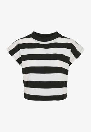 STRIPE - Print T-shirt - black/white