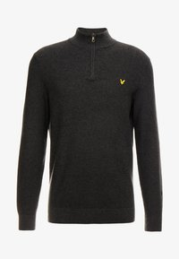 Lyle & Scott - MOSS STITCH 1/4 ZIP  - Maglione - charcoal marl - 3