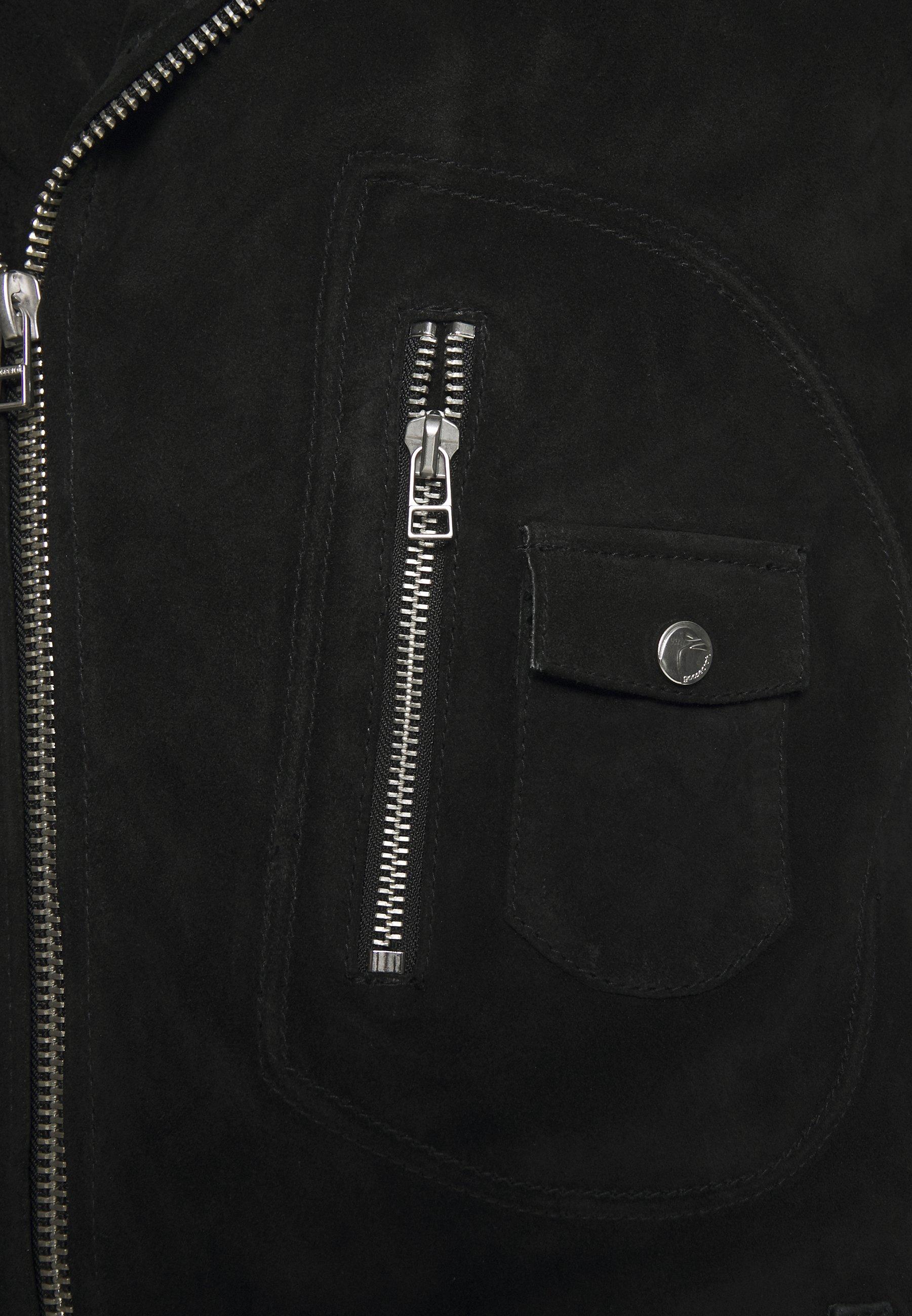 Goosecraft MAXIME BIKER - Veste en cuir - black