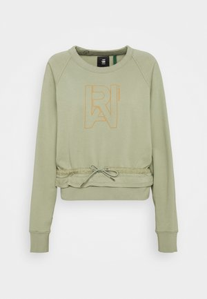 RAW DRAWCORD RAGLAN CREWNECK - Sweatshirt - grege green