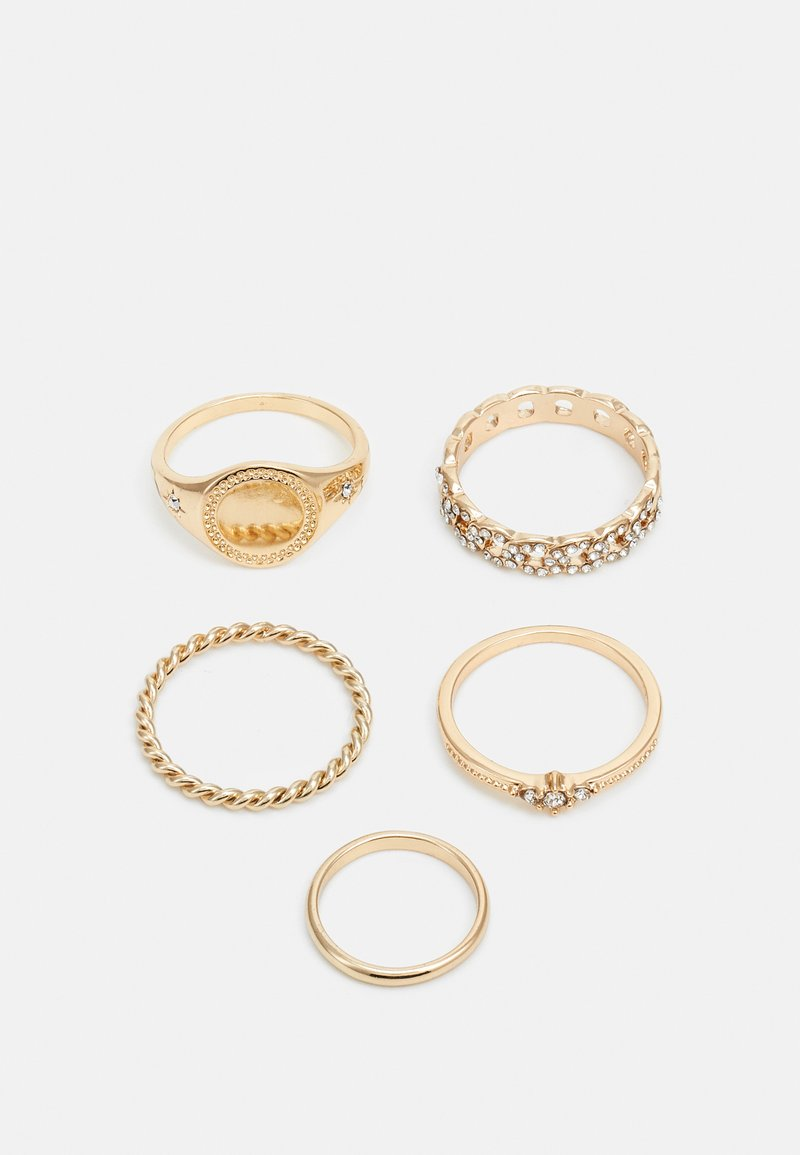 Topshop - STATEMENT URBAN 5 PACK - Ringar - crystal