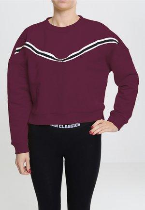 STRIPED CREW - Sweatshirt - port