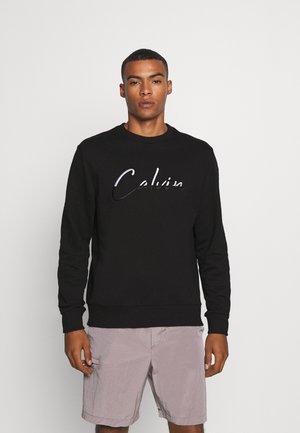 SCRIPT EMBROIDERY  - Sweater - black