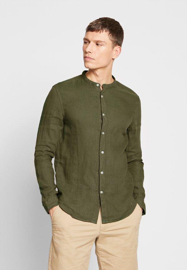 Pier One Koszula - olive/oliwkowy Odzież Męska EJMA