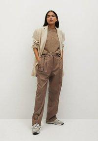 Mango - CLAUDI - Trousers - bruin - 1