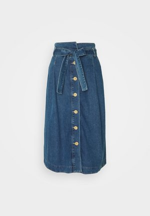 MIDWEIGHT - A-line skirt - denim blue
