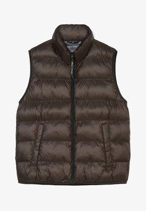 SORONA - Waistcoat - chocolate brown