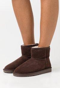 Even&Odd - LEATHER - Winter boots - dark brown - 0