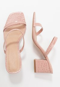 NA-KD - SQUARED STRAP  - Heeled mules - dusty pink - 3