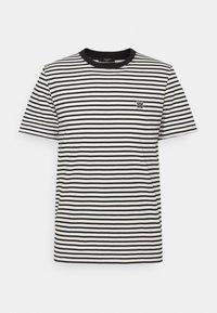 JPRBLASTUDIO TEE STRIPE - Print T-shirt - egret/black