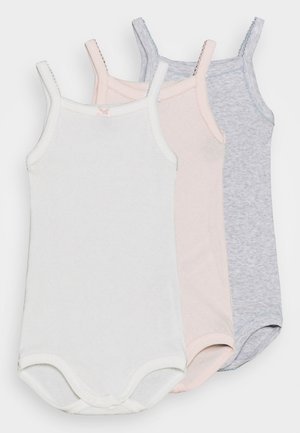 BRETELLE 3 PACK - Body - white/pink/grey