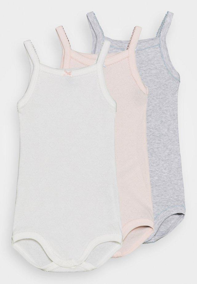 BRETELLE 3 PACK - Body - white/pink/grey