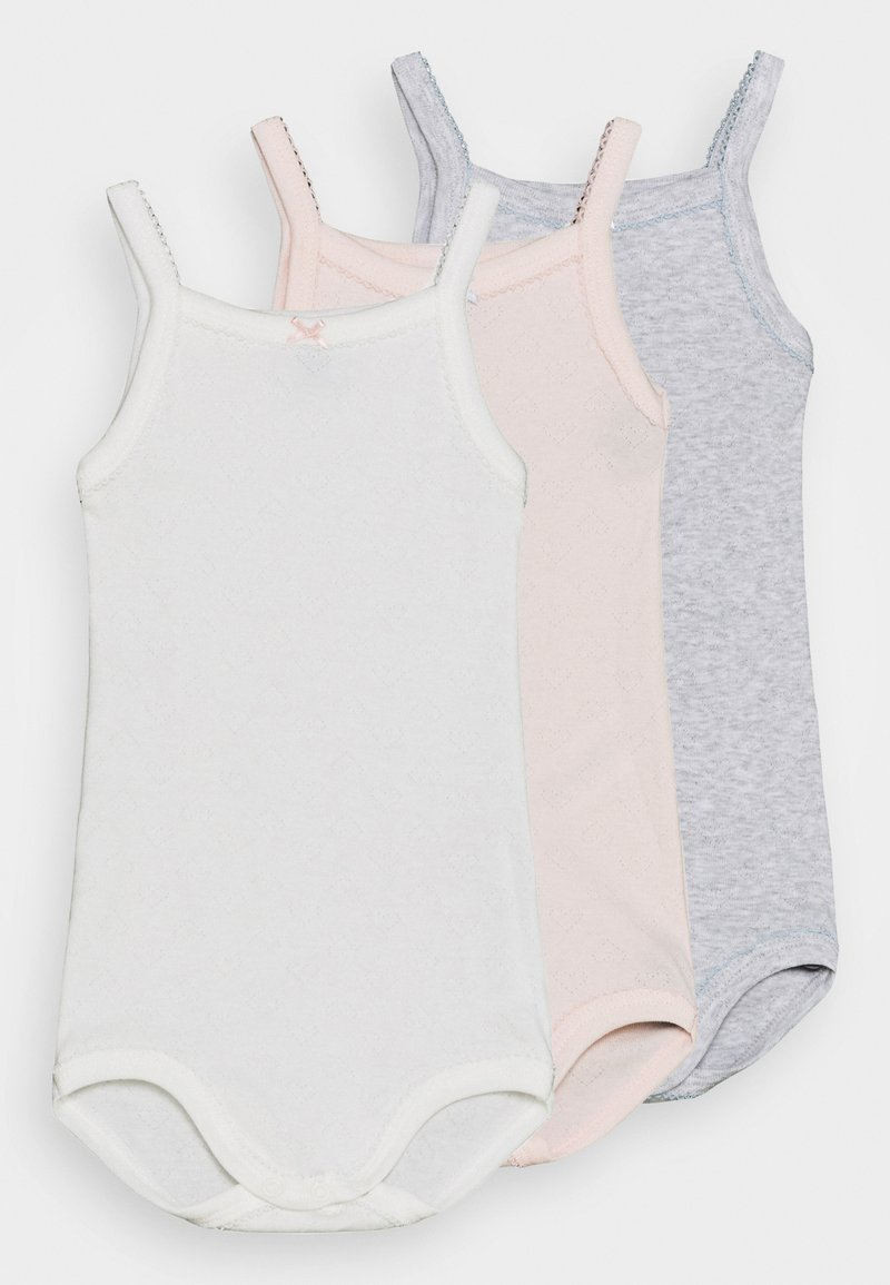 Petit Bateau - BRETELLE 3 PACK - Body - white/pink/grey
