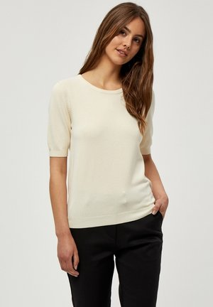 TANA  - Basic T-shirt - seedpearl cream