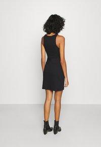 Noisy May - NMBALE SLIT SKIRT - Mini skirt - black - 2
