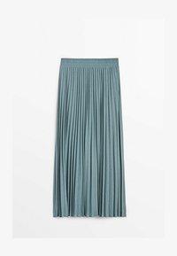 Massimo Dutti - MIT STRETCHBUND  - A-line skirt - light blue - 0