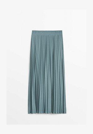 MIT STRETCHBUND  - A-line skirt - light blue