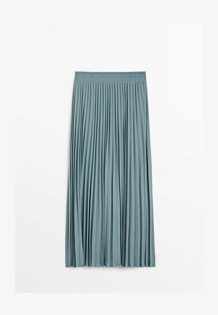 Massimo Dutti - MIT STRETCHBUND  - A-line skirt - light blue