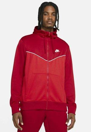 REPEAT HOODIE - Zip-up hoodie - gym red/university red/white