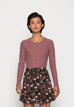 ONLNELLA O NECK - Long sleeved top - rose brown melange