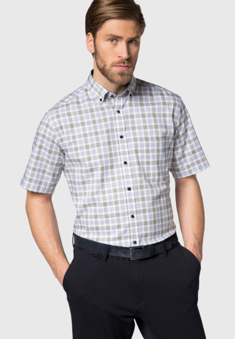 Eterna - MODERN FIT - Shirt - olive/blue