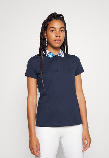 FASHION SLEEVE - Polo shirt - french navy/porcelain floral