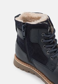 Friboo - LEATHER - Lace-up ankle boots - dark blue - 5