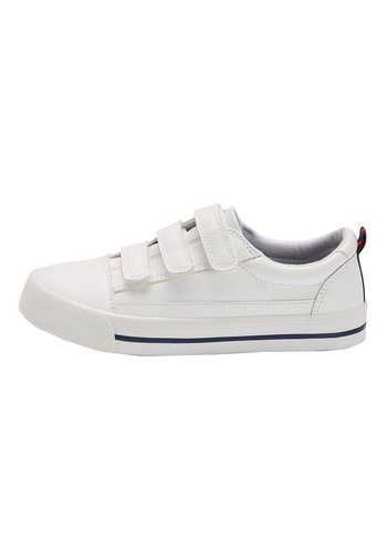 WHITE STRAP TOUCH FASTENING SHOES (OLDER)