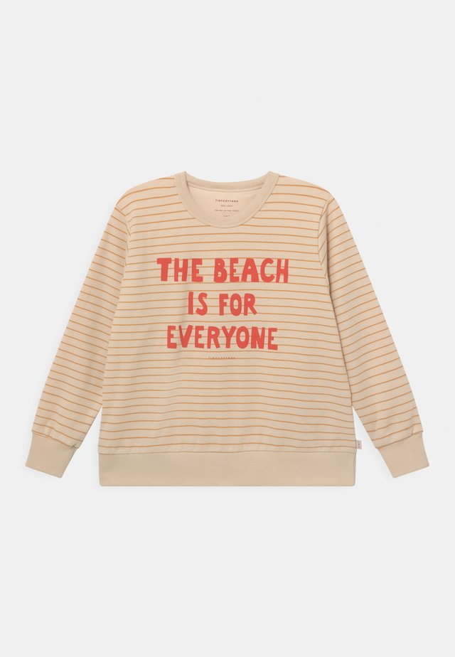 MANIFESTO STRIPES UNISEX - Sweatshirt - cream