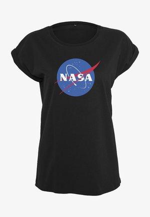 NASA INSIGNIA TEE - Print T-shirt - black