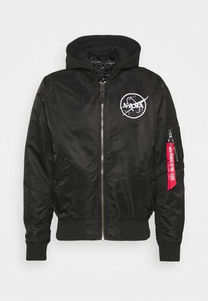 NASA GLOW - Giubbotto Bomber - black