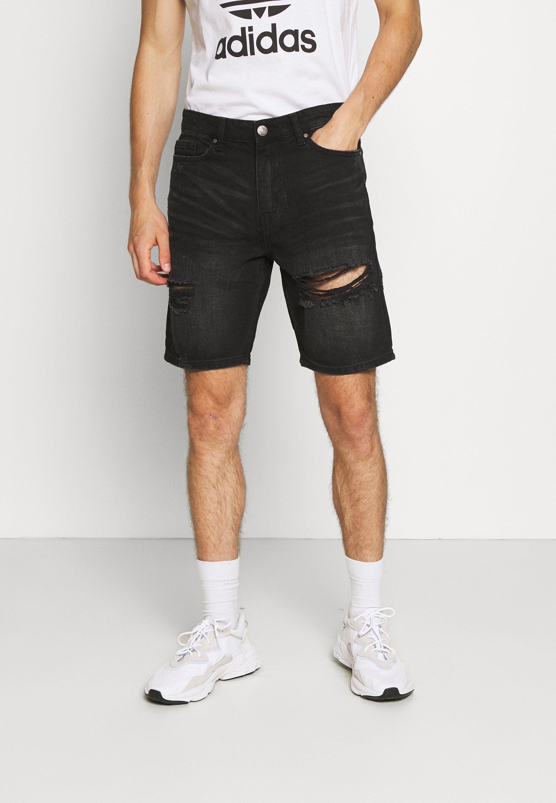 Men RIPPED SHORT - Denim shorts