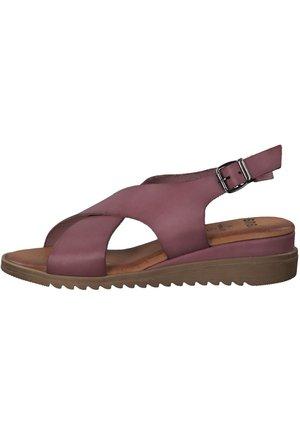 Sandaler m/ kilehæl - lilac