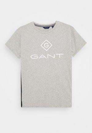 LOCK UP STRIPE  - T-shirt print - light grey melange