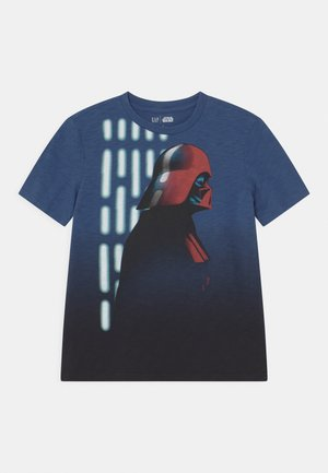 BOY STAR WARS - Print T-shirt - chrome blue