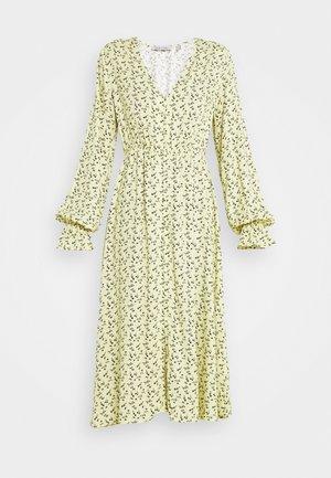 BUTTON UP DRESS - Trikoomekko - yellow