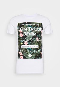 TOM TAILOR DENIM - T-shirt imprimé - white - 3
