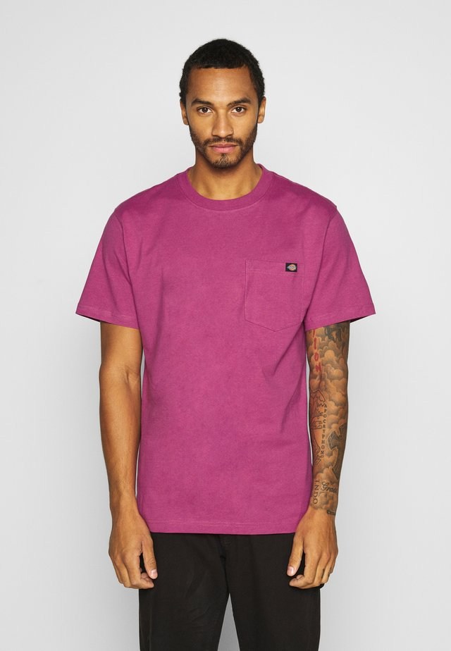 PORTERDALE POCKET TEE - Basic T-shirt - pink berry