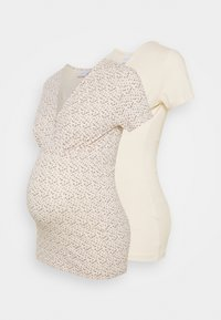 MAMALICIOUS - MLFIA 2 PACK - Print T-shirt - whitecap gray - 0