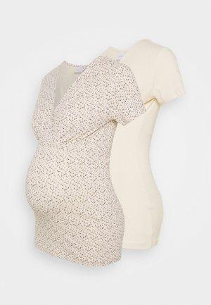 MLFIA 2 PACK - T-shirt z nadrukiem - whitecap gray