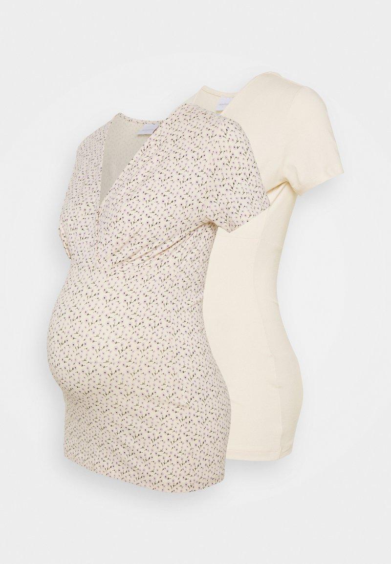 MAMALICIOUS - MLFIA 2 PACK - Print T-shirt - whitecap gray