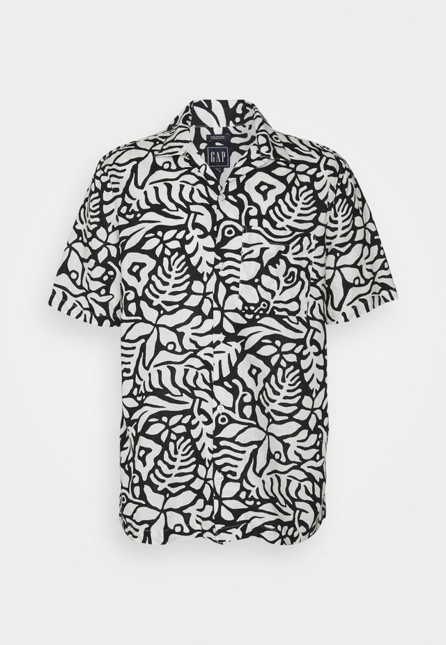 CAMP COLLAR - Shirt - white/black