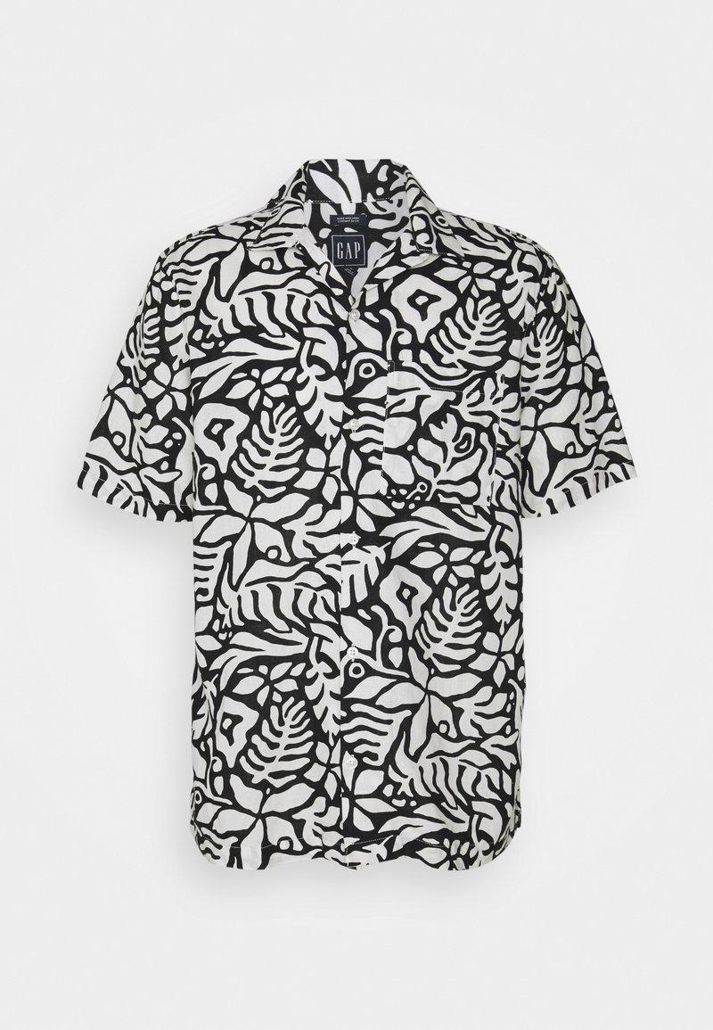 GAP - CAMP COLLAR - Shirt - white/black