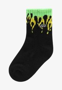 Vans - IT SLIME FLAME CREW KIDS (2-4yrs, 1PK) - Socks - black/slime - 0
