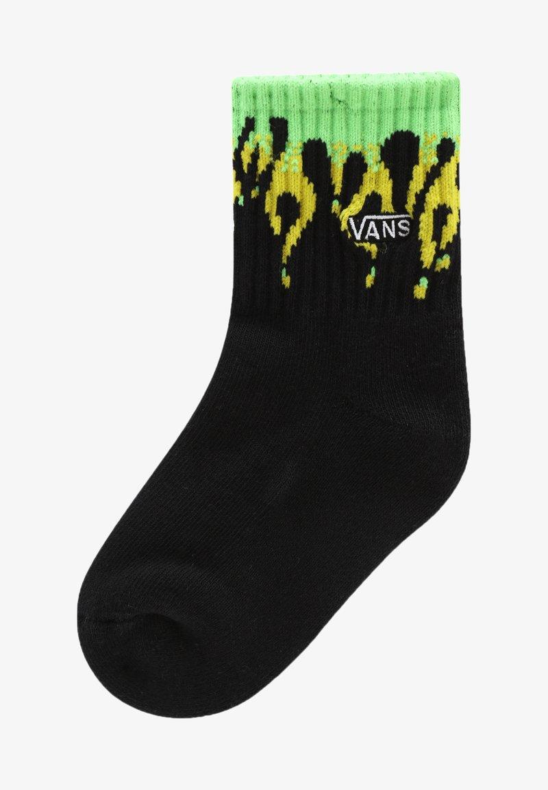 Vans - IT SLIME FLAME CREW KIDS (2-4yrs, 1PK) - Socks - black/slime