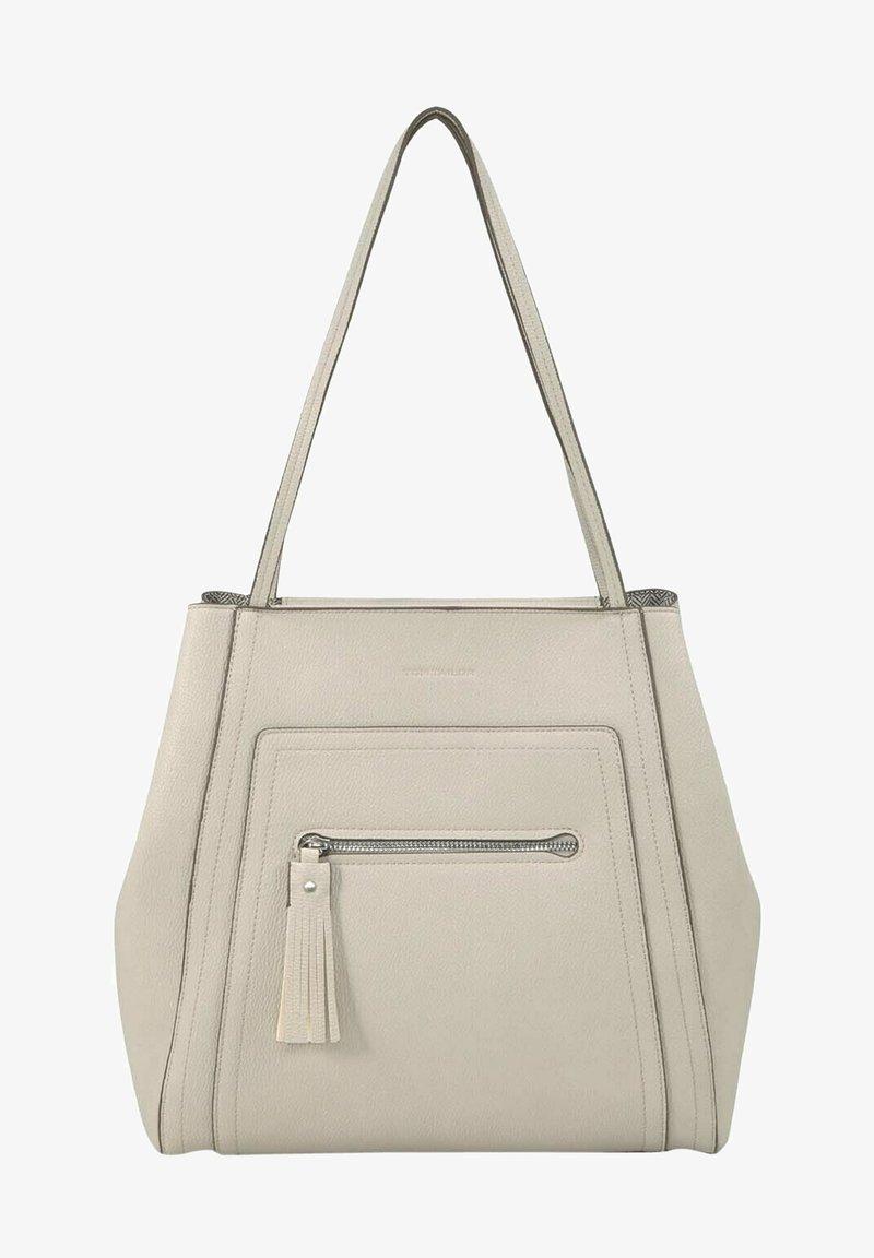 TOM TAILOR - MIT ANHÄNGER - Handbag - off white/off white