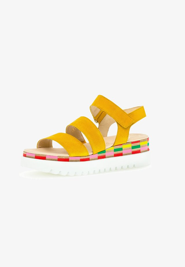 Sandalen met plateauzool - sun (multic.)
