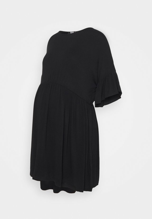 SMOCK DRESS - Robe en jersey - black