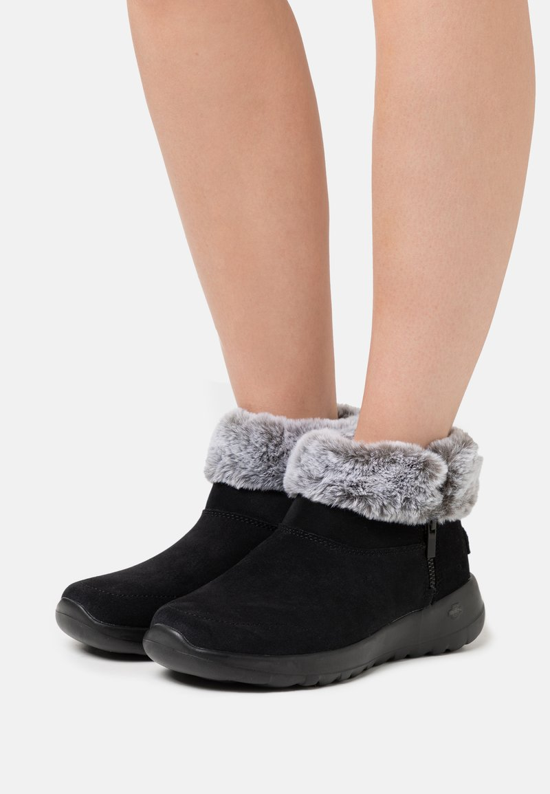 Skechers - ON THE GO JOY - Ankle boots - black/gray