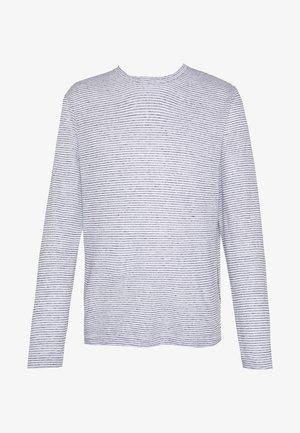 CREW  - T-shirt con stampa - white / navy